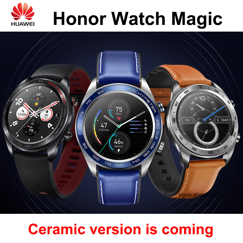 Newest Huawei honor watch magic smartwatch 1 2 inch AMOLED touchscreen heartrate monitoring BT4 2 BLE
