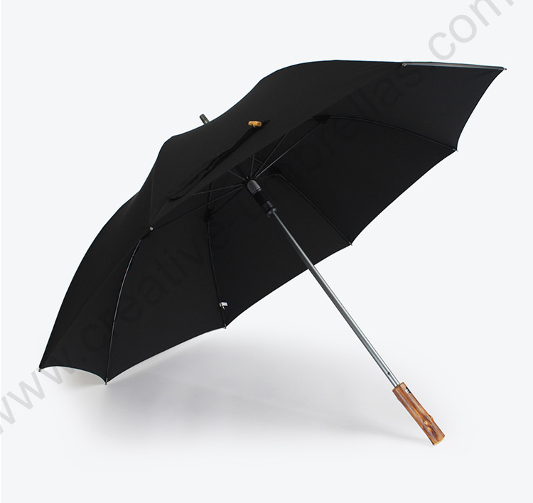 14mm aluminium hand open 750T nylon memory cloth Taiwan Formosa rattan wooden solid business umbrella straight bamboo parasol