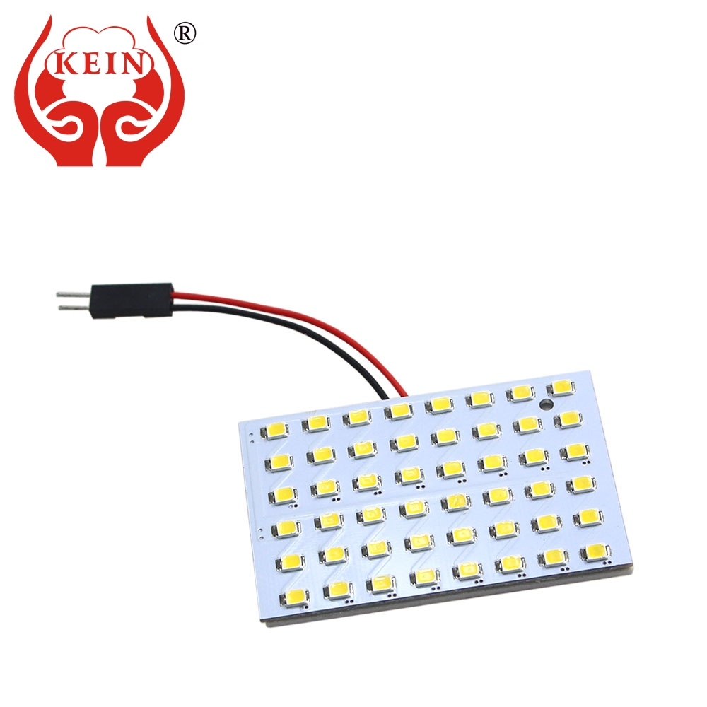 KEIN Super Bright 48smd t10 BA9S festoon W5W <font><b>led</b></font> T4W 31 36 39 41 mm Interior Reading Panel Dome Warm White 12V auto car Lights image