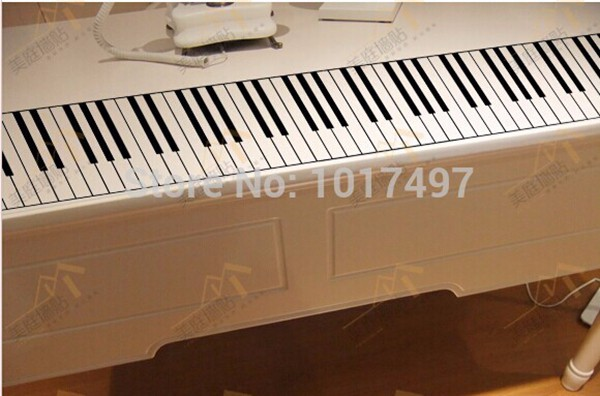 US $7 49 6% OFF|Free shipping 88 Key Piano Wall Stickers ,Standard Piano  Keyboard Music Piano Home Decoration Wall Sticker 129x15 8cm-in Wall  Stickers