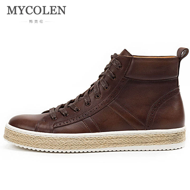 MYCOLEN Brands Men Shoes Sneakers Breathable Lace-Up Casual Shoes Luxury Designers Fashion Footwear Comfortable Lace-Up Leisure fashion men s lace up straight legs cropped jeans