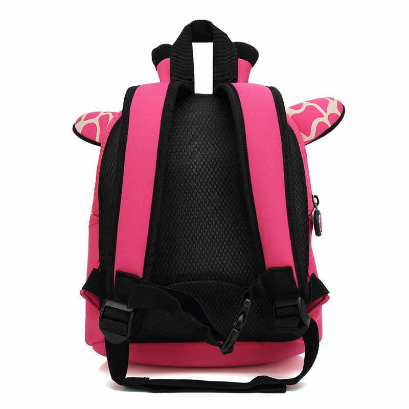 Los niños 3D lindo diseño Animal mochila anti-Niño Perdido chico de escuela bolsas de jardín de infantes de dibujos animados Cómodo bolso de elk