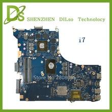 Pour ASUS GL552VW ZX50V mère d'ordinateur portable GL552VW carte mère rev2.0 i7 cpu avec carte Graphique