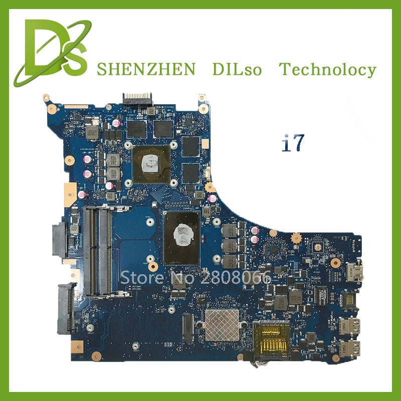 SHUOHU GL552VW For ASUS GL552VW ZX50V laptop motherboard GL552VW mainboard rev2.0  i7 cpu with Graphics card original laptop motherboard for asus x50z f5z mainboard for amd cpu with integrated graphics card 100