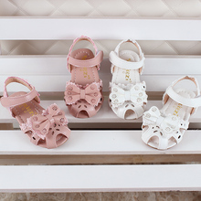 Kids Summer Fashion Cut-outs Sandals Shoes For Girls Princess Lace Bowtie Beach Sandals Children Baby Soft Sole Casual Shoes 3 colors 1 pair fashion girls children sandals princess shoes gladiator cut outs cool knee high boots cool girls footwear