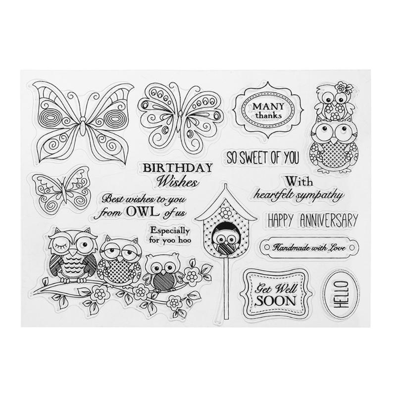 Creative Silicone Transparent Stamp Kids DIY Scrapbooking Card Making Album Decorative Clear Stamp Sheets Seal Gifts lovely animals and ballon design transparent clear silicone stamp for diy scrapbooking photo album clear stamp cl 278