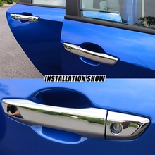 For Honda Civic 10th 2016 2017 ABS Chrome LHD Car door protector Handle Decoration cover accessories trim sticker car styling decoration circle trims for 10th gen honda civic a pillar car door audio speaker rings trims for honda civic 2016 2017 2019 2019