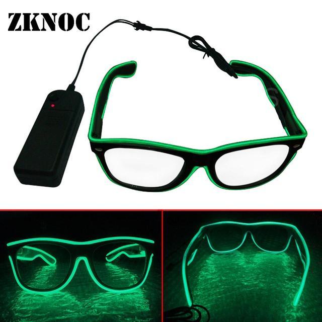 ad07a62bb Óculos de sol festival Iluminação LED Glowing Óculos EL Piscando Fio up Luz  Brilhante óculos de