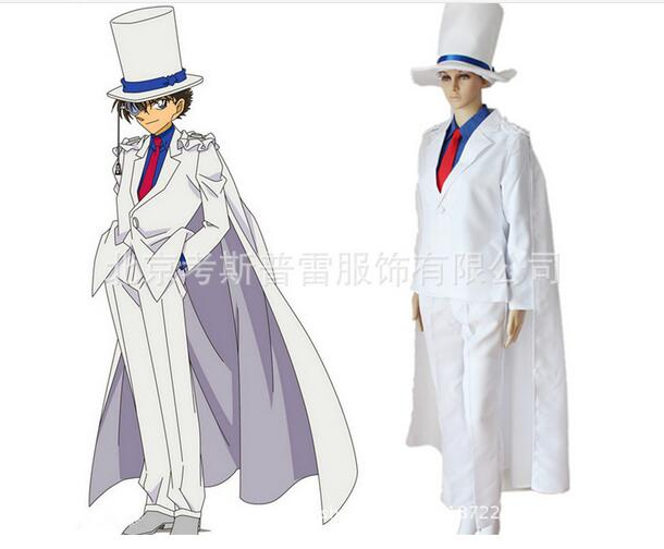 Newest High Quality Meitantei Conan Kaito role-playing Uniform Cosplay Costume