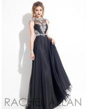 Sexy Lange Abendkleider 2016 Sheer Neck Kappen-hülsen Perlen Chiffon Backless Langes Abendkleid Partei-kleid Abendkleider