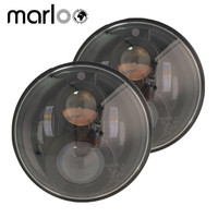 Marloo 2 X Emarked Projector Round 7 Inch LED Headlights Position Light Parking Light For Jeep