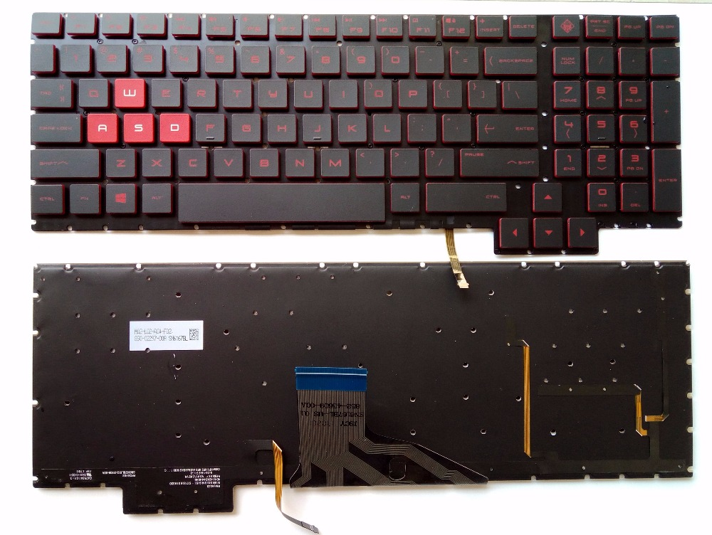 New for HP Omen 15-CE 15-CE000 15-CE026TX 15-CE005TX 15-CE006TX 15-CE001TX 15-CE002TX US laptop keyboard with backlit 15.6