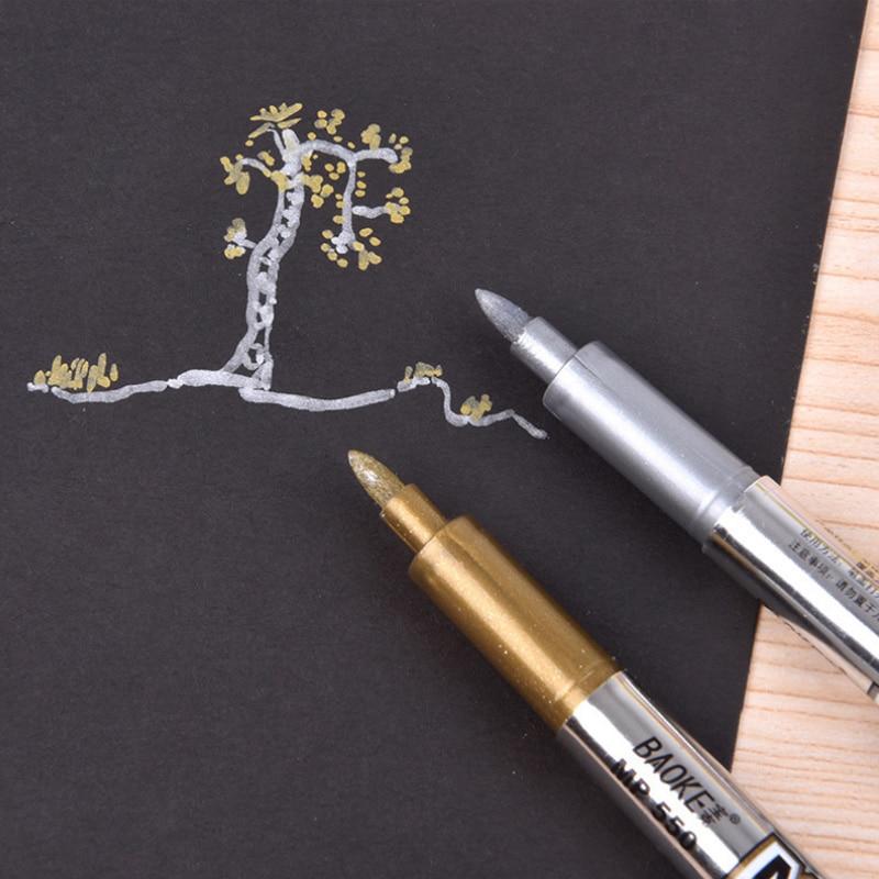1 X Metallic Color Pen Diy Album Scrapbooking Invitation Card Photo Marker Pen Stationery Papelaria School Supplies