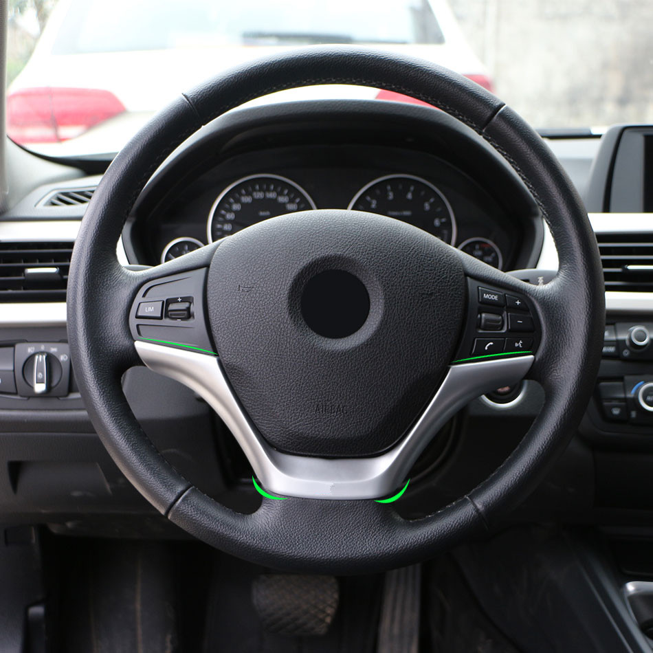 Jameo Auto Car Styling Chrome Steering Wheel Trim Cover