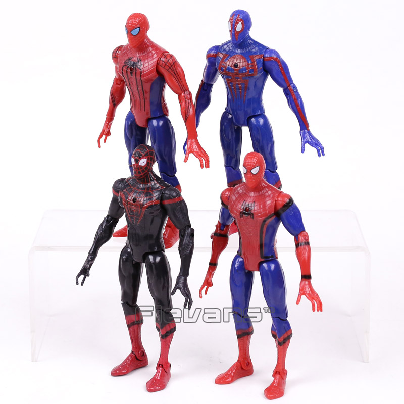Spider-Man:Homecoming The Amazing Spiderman PVC Action Figures Toys Gifts for Boy 4pcs/set 16cm