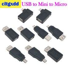 Cltgxdd מיקרו מיני V3 מתאם USB 2.0 נקבה לזכר מיקרו OTG כוח אספקת יציאת 90 תואר ימני זוויתי USB מתאמי OTG