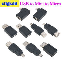 cltgxdd Micro Mini V3 Adapter USB 2.0 Female to Male OTG Power Supply Port 90 Degree Right Angled Adapters
