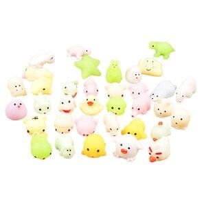 Сжимаемые игрушки милые светящиеся Mochi сжимаемые кошки сжимаемые целебные забавы дети сжимаемые Kawaii Игрушка снятие стресса Декор Y724