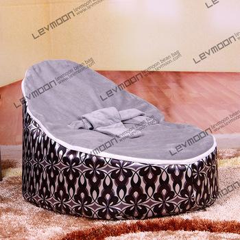 FRETE GRÁTIS feijão bebê tampa saco com 2 pcs cinza up cover bebê beanbag cadeira de bebê sofá cadeira do saco de feijão do bebê