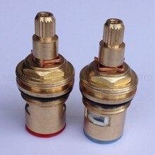 2Pcs Standard 1/2 Replacement Brass ceramic disc tap valve insert gland cartridge quarter turn zba501