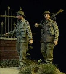 1/35 Subiu Kits Modelo de Figuras WWII Infantaria Britânica 2 figura Unassambled Sem Pintura