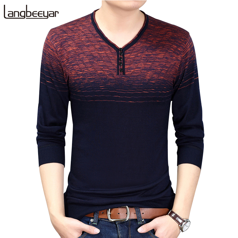 2018 New Spring & Autumn Fashion Brand Clothing Pullover Mens Sweaters Trend V-Neck Slim Fit Knitting Thin Sweaters For Men полка new brand 3pcs 20 30 slim fit ts079