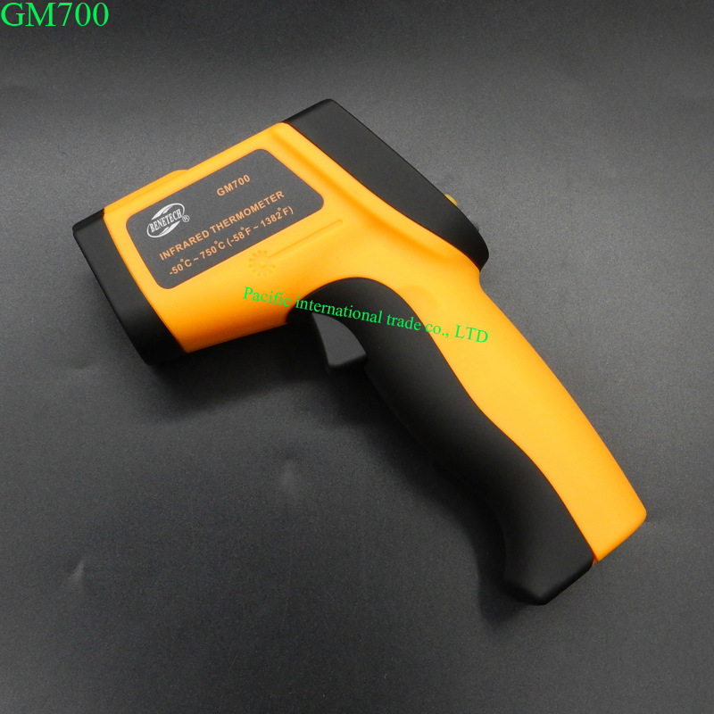 Non-Contact IR Laser  Digital Thermometer -50 ~750 degree 12:1 GM700 IR Infrared Thermometers Gun GM700  Free Shipping  цены