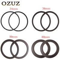 OZUZ на Одежда высшего качества 24 мм 38 мм 50 мм 88 мм Глубина Clincher 700C оправа углерода 23 мм Ширина 20 H 24 H колесо велосипеда обода 3 К матовая или 3 К г