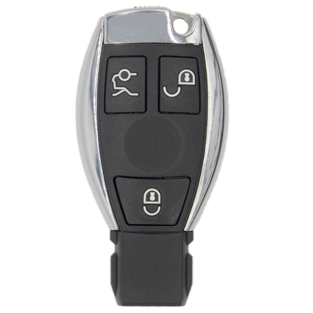 Couvre-boîtier porte-clé à distance à 3 boutons pour Mercedes pour Benz A B C E S classe W203 W204 W205 W210 W211 W212 W221 W222