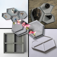 Composite concrete tray silicone mold gypsum art jewelry tray mold cement household supplies tray mold