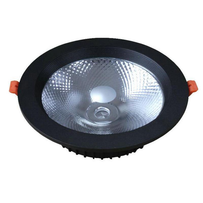 Coquille noire encastré LED Downlight 30W 40W COB CREE LED Spot lumière LED plafonnier AC85V-245 V livraison gratuite