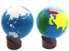 New Montessori teaching aids color globes land and water Baby Educational Toy Gift