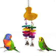 1Pcs 40 x 10cm Colorful Bird Chewing Toys Cage Swing Bites Pet Parrot Toy Parakeet Budgie Playing Supplies