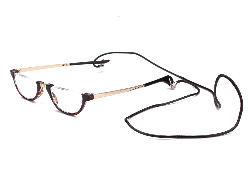 1abb94800a5 Agstum Free shipping Half Moon Mens Women Wrap Neck Round Foldable Eyewear  Eyeglasses Reading Glasses-in Reading Glasses from Apparel Accessories on  ...