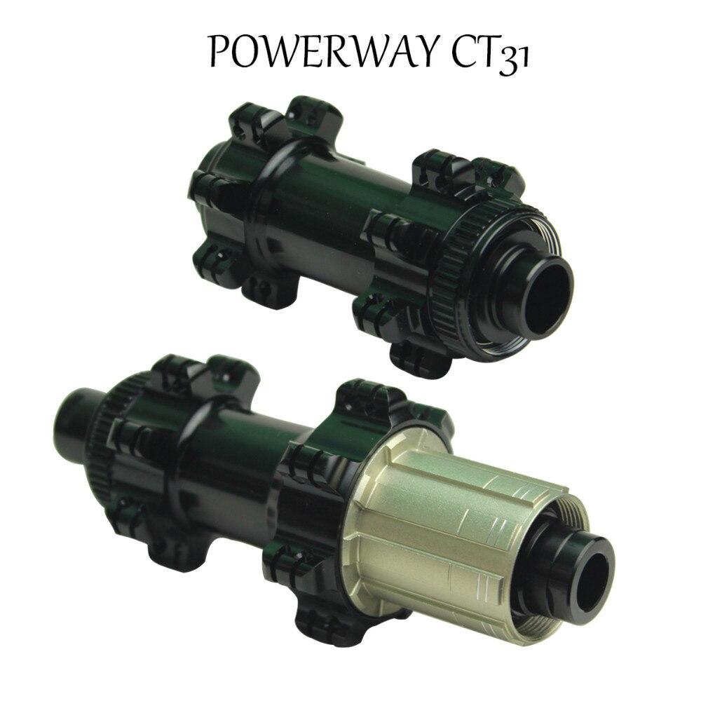 Powerway CT31 Gravel Bike Hub Enduro Bearing Aluminum QR Or Boost Center Lock aluminum Straight Pull front Hub