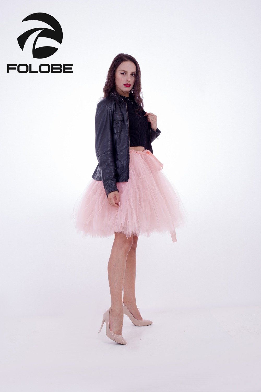 7b7b9b2acb FOLOBE Light Pink Handmade Midi Tulle Skirt Tutu Skirts Women Ball Gown  Party Petticoat 2017 faldas saia jupe-in Skirts from Women's Clothing on ...