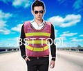 20pc/lot high visibility fishnet conspicuity vest reflective construction working vest warning safety traffic vest