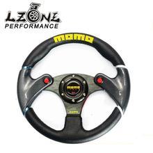 LZONE ГОНКИ-НОВЫЙ 32 см Черный MOMO кожаный руль и углеродного волокна колесо автопробег изменение JR-SW41