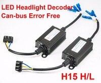 1 Pair H15 LED Decoder Car LED Headlight Warning Canceler Auto Canbus Can bus Error Free Fix Anti Hyper Flashing Blinking 12V|Car Light Accessories| |  -