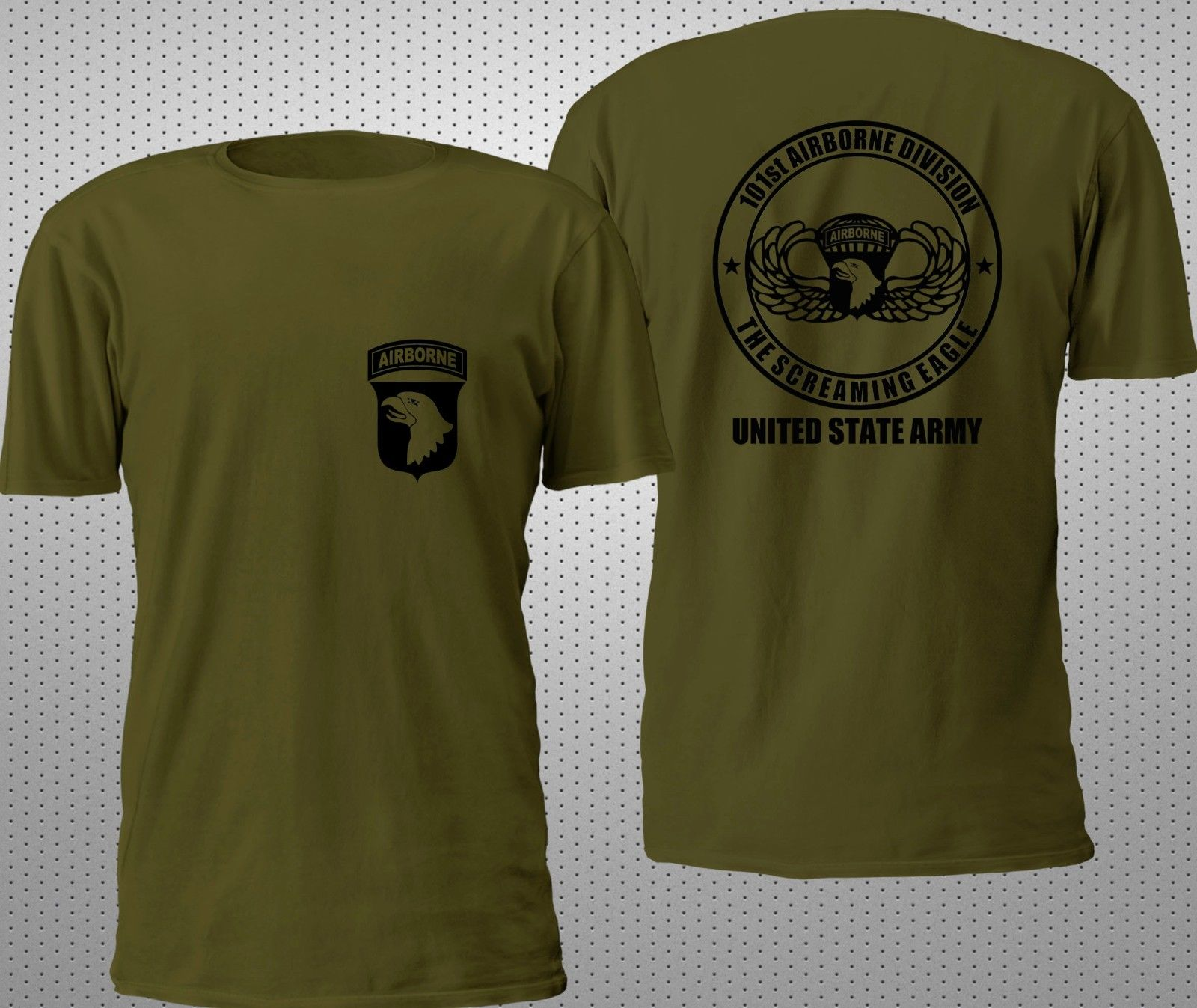 High Quality Casual Printing Tee NEW 101ST AIRBORNE VETERAN SPECIAL FORCE  MILITARY ARMY 2SIDE T SHIRT aa86e2808
