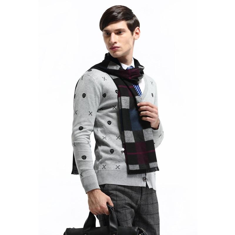 Winter british plaid Scarf Soft Cotton Knitted thin scarf men ...