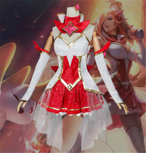 The Popular Game LOL  Cosplay Costume Guardian of the Star The Bounty Hunter Miss Fortune Dress Full Sets A цена