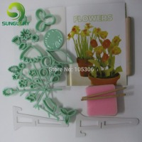 Free Shipping 1set 32 Pieces Gum Paste Flower Making Set Plum Cake Mold