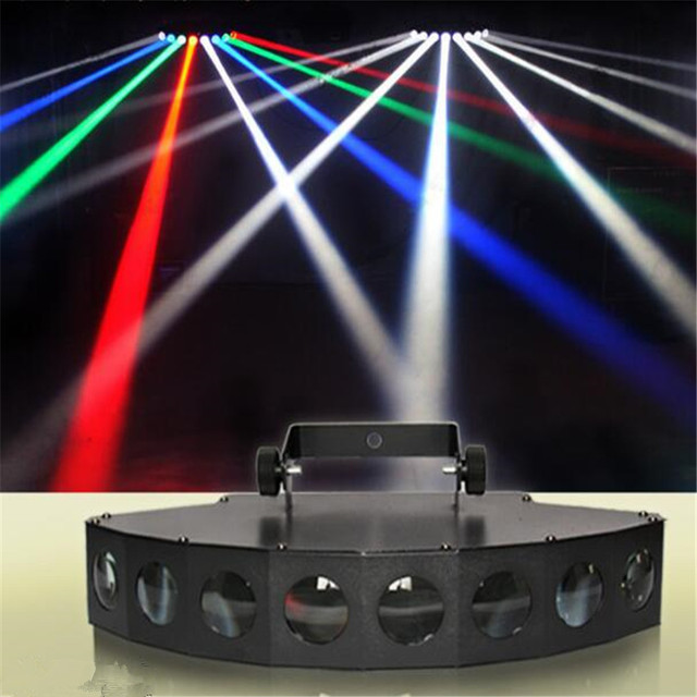 New 8 Heads LED RBGW White DMX Beam Light Stage Lights Show Disco Bar Xmas