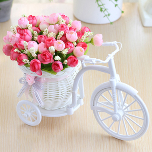 Image 1 - מתנת חג אהבת ראטאן אגרטל + פרחי מטרים אביב נוף עלה מלאכותי פרח סט בית חתונת קישוט יום הולדת מתנה