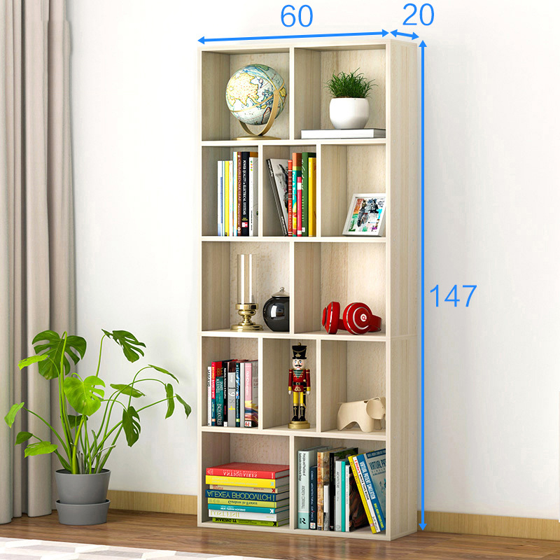 LK1692 Fashion Simple Wooden Bookshelves Multi-layer Dormitory Bedroom Storage Shelves Bookcase Storage Rack 360 degree rotation simple bookshelves multi storey floor bookcase shelves children s dormitory shelter