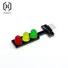Мини 5V движения светильник светодиодный Дисплей модуль для Arduino красный желтый и зеленый цвета 5 мм светодиодный RGB движения светильник для краски для дорожной светильник Системы модель