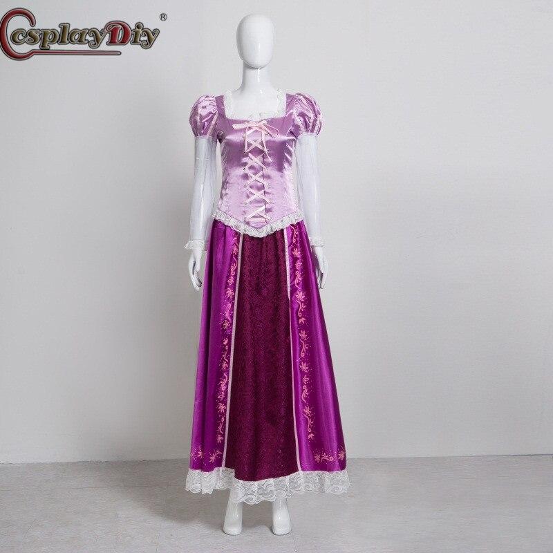 Cosplaydiy film emmêlé Cosplay princesse raiponce robe de bal violet robe femmes fille Halloween Costume de fête sur mesure