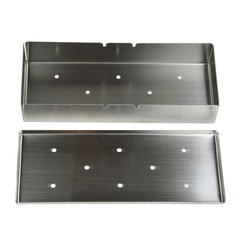 Rectangle Smoker Box Stainless Steel Durable BBQ Gas Grill