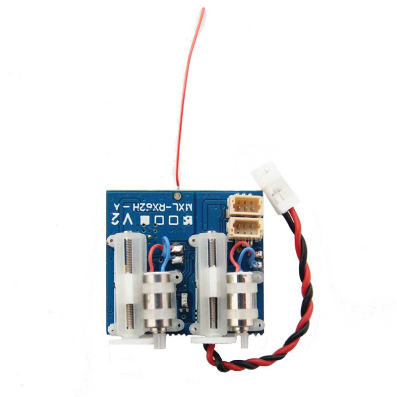 Oversky MXL-RX62H V2 Receiver Integrated with Dual Servo for Frsky DMS2 FUTABA SFHSS frsky tfr6 tfr6 a 7ch 2 4g receiver compatible with futaba fasst frsky tfr6 t8fg 10cg 14sg tf module
